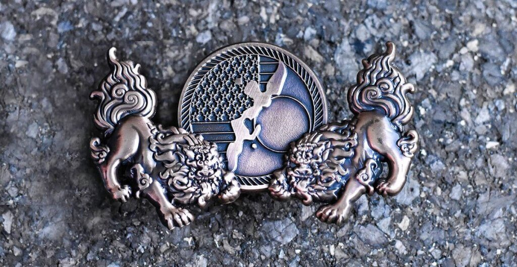 animal challenge coin