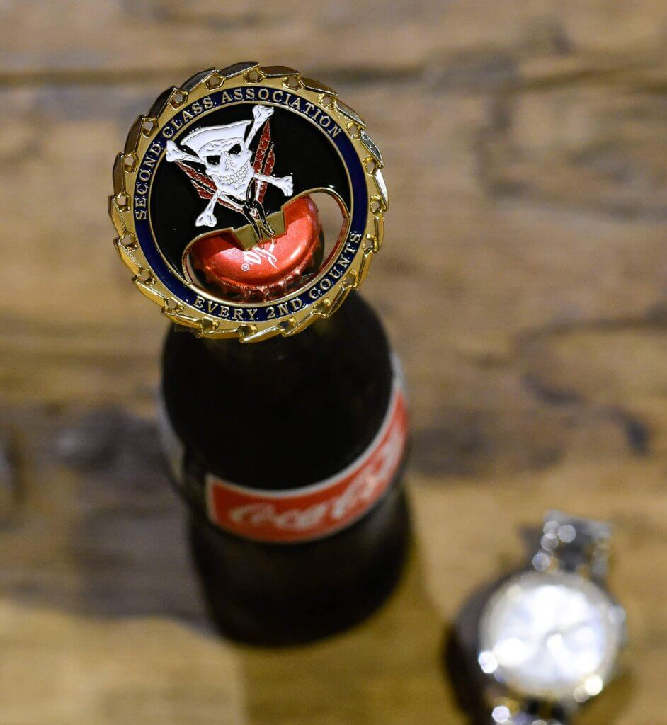 bottle opener challenge coin