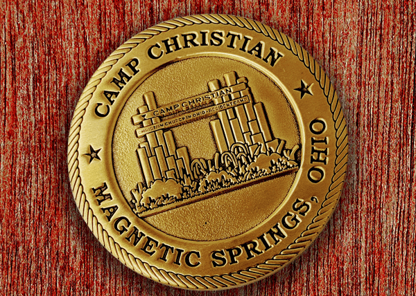 Custom Church Coin - Die Struck Antique Gold Sandblasted Coin
