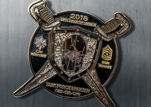 Task Force Challenge Coin - Soft Enamel Brass Sandblasted Coin