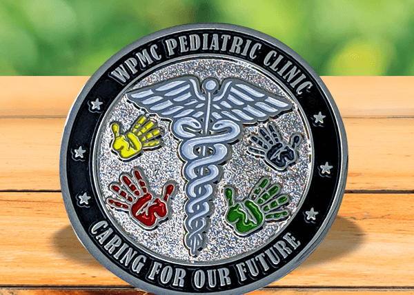 Medical Challenge Coin - Soft Enamel Polished Nickel Sandblasted Coin