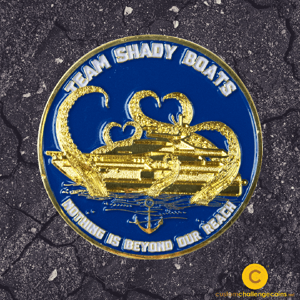 Navy Challenge Coin - Team Shady Boat