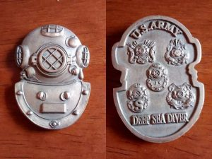 army diver challenge coin