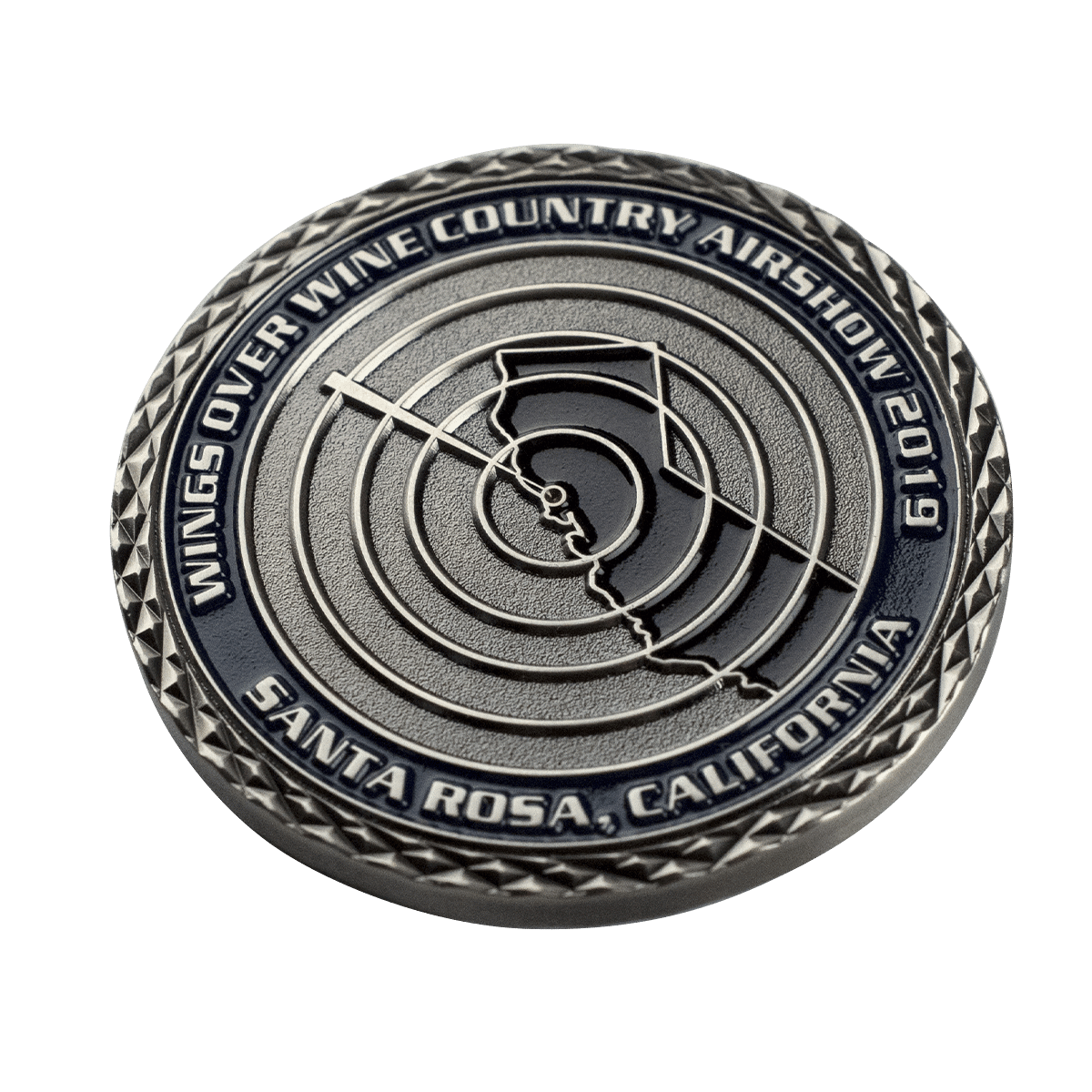 Challenge Coin Cross Cut Edge