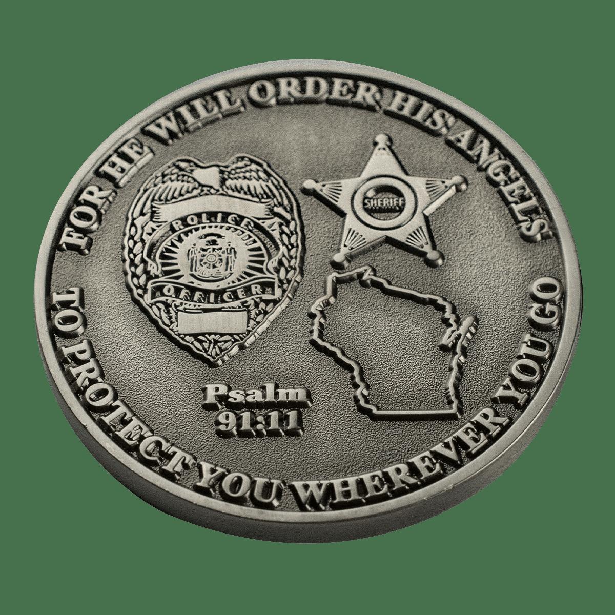Challenge Coin Flat Edge