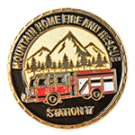 Fore and Rescue Mountain Home Challenge Coin