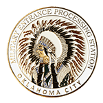 Military Entrance Processing Station Oklahoma Challenge Coin