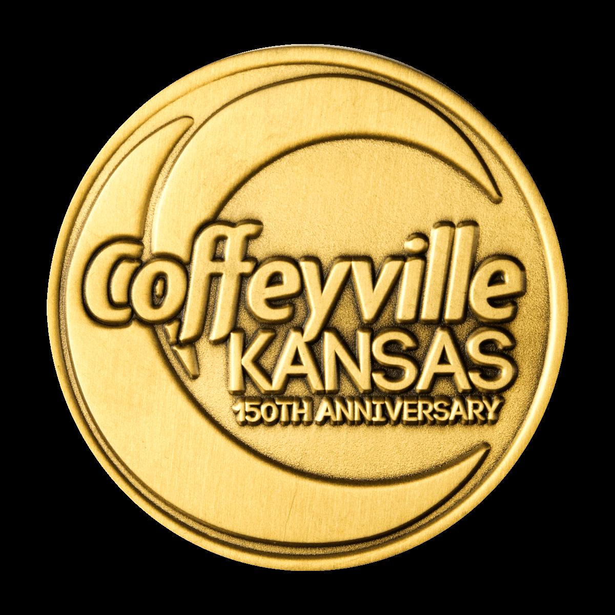 City of Coffeyville Kansas 150th Anniversary Coin