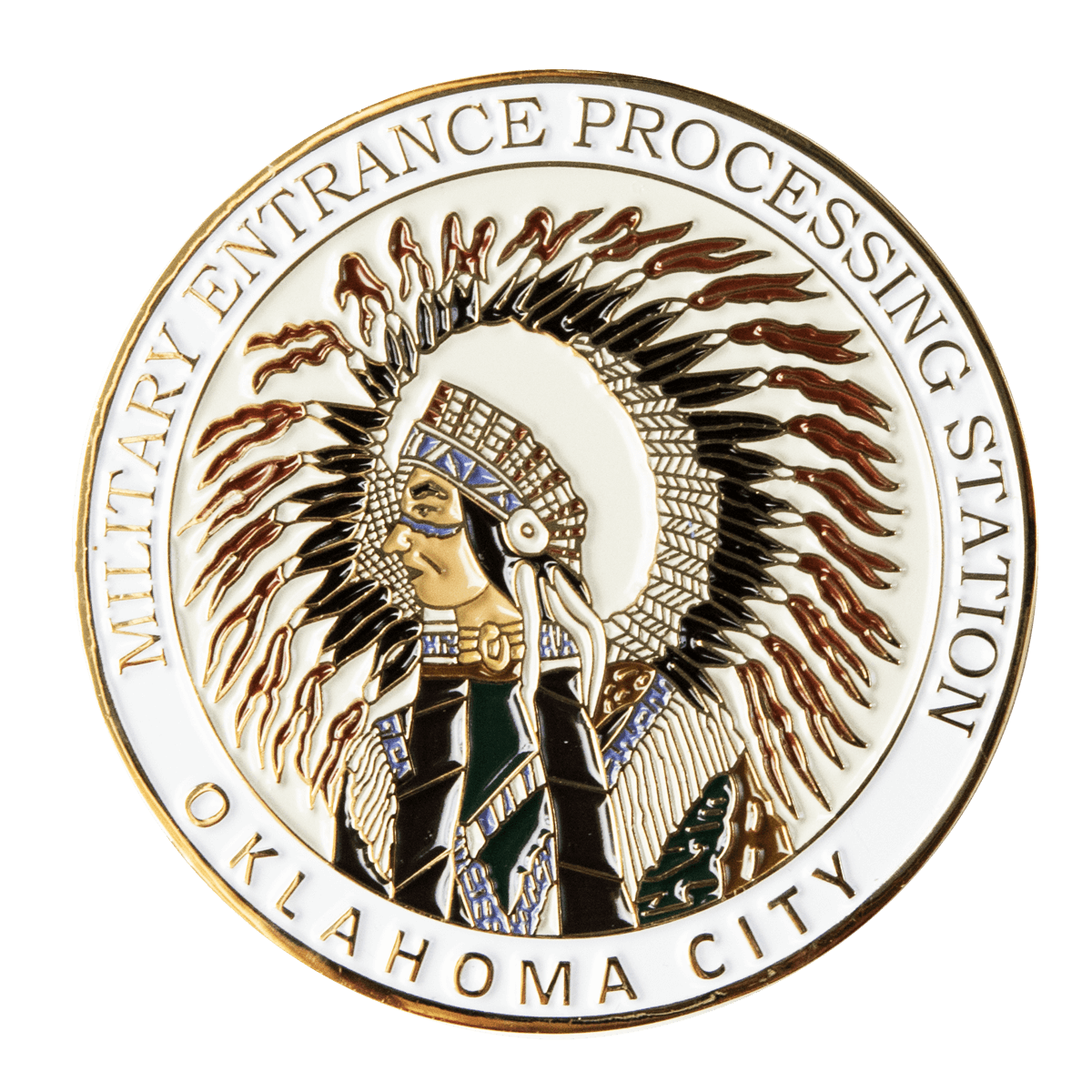 Military Entrance Processing Station Challenge Coin
